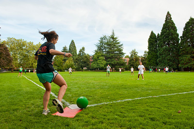 students playing intramural