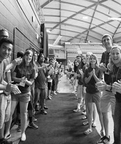 student welcome during orientation