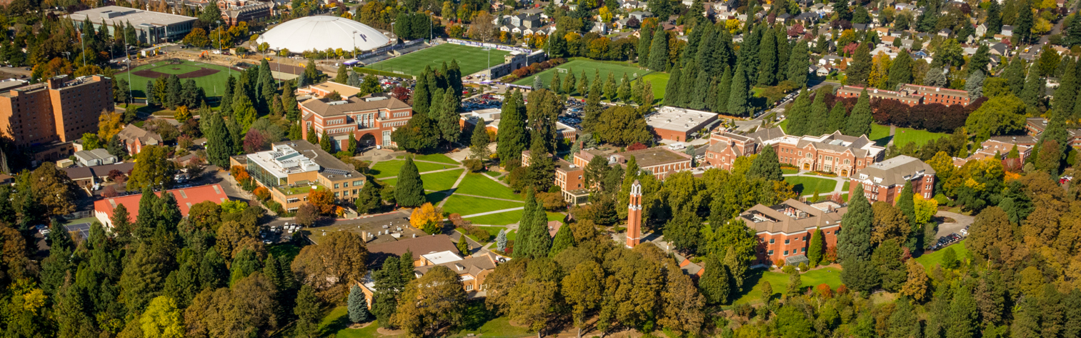 University of Portland campus from above